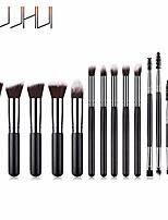 cheap -14pcs red wooden cosmetic makeup brush foundation powder eyeshadow brush