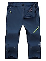 cheap -men's outdoor quick dry breathable capri pants zip pocket water resistant royalblue xxs