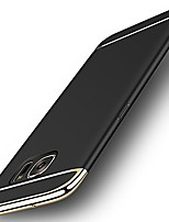 cheap -galaxy s7 edge case, galaxy s7 edge back cover, ultra slim & rugged fit shock drop proof impact resist protective case, 3 in 1 hard case for samsung galaxy s7 edge - black
