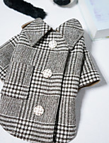 cheap -Dog Cat Coat Plaid Classic British Casual / Daily Winter Dog Clothes Puppy Clothes Dog Outfits Breathable Black Costume for Girl and Boy Dog Polyster XS S M L XL XXL