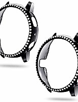 cheap -[2 pack compatible with samsung galaxy watch active 2 case 44mm black, pc plated hard bumper bling protective cover case for galaxy watch active2 44mm black