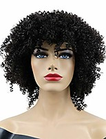 cheap -short natural looking kinky curly hair synthetic wigs for black women girls black