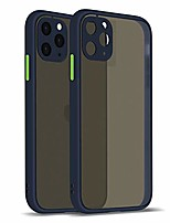 cheap -iphone 11 pro max case translucent matte cover with shockproof anti protection design for iphone 11 pro max case - matte navy blue (6.5 inch, 2019 release)