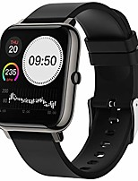 "cheap -smart watch fitness tracker, 1.4"" full touch screen sports watch with heart rate monitor, activity tracker with sleep monitor, waterproof pedometer watches for men women black ladies for ios android"