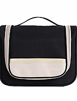 cheap -polyester toiletry bag - cosmetic bag make up case for men women - large capacity waterproof travel organizer kit accessory with sturdy hook for vacation (style c - black)
