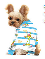 cheap -Dog Jumpsuit Pajamas Milk Cows Printed Animals Casual / Daily Dog Clothes Puppy Clothes Dog Outfits Breathable Yellow Red Blue Costume for Girl and Boy Dog Polyster S M L XL