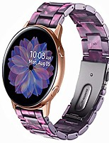 cheap -compatible with samsung galaxy watch 42mm resin band women men stainless steel clasp strap bracelet for samsung galaxy watch 42mm galaxy active 40mm galaxy active 2 40mm 44mm (violet)