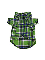 cheap -Dog Shirt / T-Shirt Plaid British Gentle Casual / Daily Winter Dog Clothes Puppy Clothes Dog Outfits Breathable Green Costume for Girl and Boy Dog Cotton XS S M L XL XXL