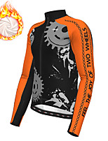cheap -21Grams Men's Long Sleeve Cycling Jacket Winter Fleece Polyester White Yellow Blue Gear Bike Jacket Top Mountain Bike MTB Road Bike Cycling Thermal Warm Fleece Lining Breathable Sports Clothing
