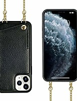 cheap -iphone 11 pro max crossbody case,  iphone 11 pro max wallet case with card slot credit card holder crossbody strap shoulder chain cover for apple iphone 11 pro max 6.5 inch - black