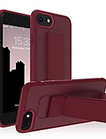 cheap -iphone 6/7/8 plus case [aura by roar] adjustable magnetic kickstand full protective anti-scratch case, matte finished soft cover, compatible with apple iphone (burgundy, iphone 6/7/8 plus)
