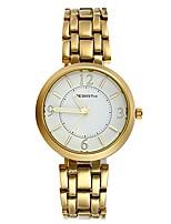 cheap -ladies japan quartz water resistant bracelet bangle round arabic numeral dial metal wrist watch (gold)