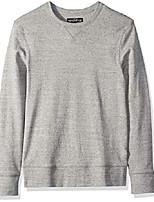 cheap -men's long-sleeve twisted rib crewneck t-shirt, marled graphite, s