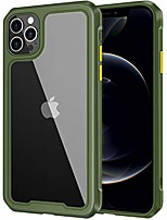 cheap -compatible with iphone 12 pro case, iphone 12 case clear hard pc back protective cover slim fit anti-yellowing shockproof soft tpu bumper case for iphone 12 pro/iphone 12 6.1inch (green)