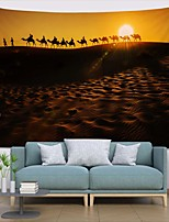 cheap -Wall Tapestry Art Deco Blanket Curtain Picnic Table Cloth Hanging Home Bedroom Living Room Dormitory Decoration Polyester Fiber Landscape Desert Camel Team Sunset