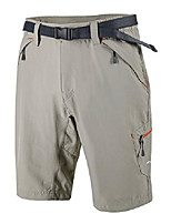 cheap -mier mens outdoor shorts cargo shorts with zipper pockets for hiking climbing, rock grey, m