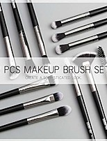 cheap -makeup brushes set professional 12 pcs/lot makeup brushes set eye shadow blending eyeliner eyelash eyebrow brush for makeup tool (gray)