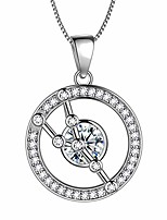 cheap -zodiac taurus round necklace women 925 sterling silver constellation pendant april birthstone jewelry crystal cubic zirconia jewelry dp0176j