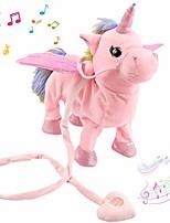 cheap -walking unicorn singsing stuffed electronic animate pegasus interactive cuddle plush toy musical space unicorn gift for kids boys girls holiday birthday, 10'' (pink)