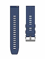 cheap -silicone watch band soft wristband strap easy to install/release/adjust compatible for xiaomi haylou solar ls05 dark blue