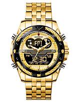 cheap -KADEMAN Men's Digital Watch Digital Sporty Big Face Water Resistant / Waterproof Analog - Digital Rose Gold Black / Silver Black / Two Years / Stainless Steel / Stainless Steel