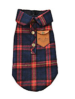 cheap -small pet dog clothes, pet puppy autumn warm england plaid double layer flannel plaid shirt thick cotton padded winter clothes cat soft t shirt for pet dog yorkshire chihuahua (xs, red)