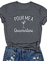 cheap -pour me another one t shirt womens wine glass graphic casual short sleeve tee tops
