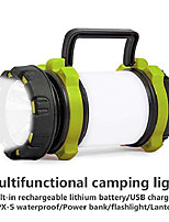 cheap -new led camping light outdoor usb charging multifunction portable small hanging light with flashlight tent light hiking light adventure light warning light waterproof mobile power bank(orange)