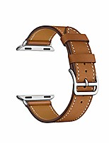 cheap -21 color compatible for apple watch band 44mm 40mm 42mm 38mm compatible replacement for series 5 4 3 2 1 single tour leather band brown(38/40)