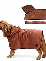 cheap -dog bathrobe towel, absorbent pet robe coat, soft microfiber bathrobe, quick drying cat bath towel with adjustable strap,s