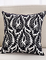 cheap -Fashion Simple Original Creation Design Single Side 3D Black Towel Embroidered Cotton  Canvas Pillow Case Cover Living Room Bedroom Sofa Cushion Cover