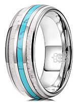 cheap -mens charming jewelry 8mm tungsten green hunting vikings turquoise polished wedding carbide antler inlay ring band for men engagement silver size 13