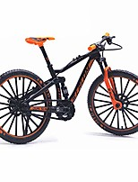 cheap -bicycle model 1:10 scale desktop alloy vehicles diecast collection gifts racing toys mountain bike office simulation curved mini hion home ornaments(orange)