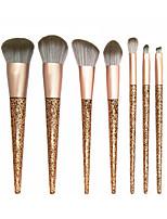 cheap -7 Gold Sequins Makeup Brush Set Powder Brush Repair Brush Eye Shadow Brush Makeup Tool Beginner Makeup