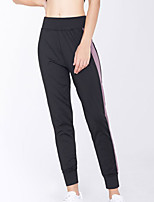 cheap -Women's Basic Streetwear Comfort Daily Casual Jogger Pants Striped Full Length Patchwork Purple Gray