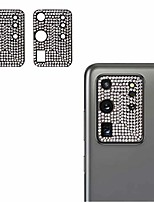 cheap -qwifey camera lens cover for samsung galaxy s20 ultra, bling shining dots cover glitter camera lens protector film for s20u (black, 2 pcs pack)