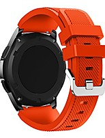 cheap -band compatible with galaxy watch 3 45mm, 22mm soft silicone sport quick release replacement bands for galaxy watch 46mm/gear s3 frontier/classic/huawei watch gt 46mm smart watch (orange)