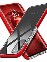 "cheap -for samsung galaxy s20 case clear thin slim crystal transparent cover shockproof bumper case for samsung galaxy s20/s20 5g 6.2"" 2020 released(red)"