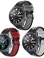 cheap -compatible for samsung galaxy watch 3 45mm bands/galaxy watch 46mm band soft silicone 22mm 3 pack sports band replacement strap women men (black-grey/black-red/black-white)