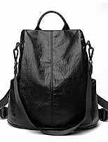 cheap -fudail anti theft backpack pu leather casual shoulder bags large capacity mochila for school college work business(804 black)