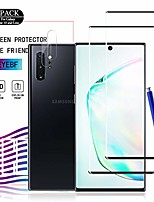 cheap -galaxy note 10 hd clear tempered glass screen protector+camera lens protectors by ye, [2+2 pack] [anti-scratch] [9h hardness] full coverage screen protector cover shield