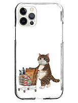cheap -Lovely Cat Case For Apple iPhone 12 iPhone 11 iPhone 12 Pro Max Unique Design Protective Case and Screen Protector Shockproof Back Cover TPU