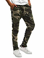 cheap -men sports pants, mens camouflage overall trousers loose fit pocket sweatpants trendy sportswear trouser