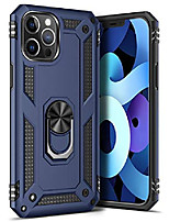 cheap -ring kickstand phone case for iphone 12 pro/iphone 12 6.1 inch,heavy duty dual layer drop protection case,hard shell + soft tpu + ring stand,blue
