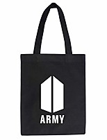 cheap -women kpop bts canvas tote bag shopping handbag shoulder ladies casual chic bags bangtan boys printed handle tote bags gift for a.r.m.y (as picture3)