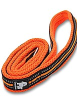 cheap -44 inch long 0.8 inch wide padded 3m reflective stripes soft and strong mesh design dogs leads rope, night time dog walking leash with strong stainless zinc-alloy hook (orange)