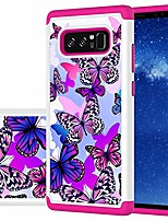 cheap -designed for galaxy note 8 case/galaxy note 8 case girls women, shockproof defender heavy duty phone cover cases for samsung galaxy note 8 (butterfly)