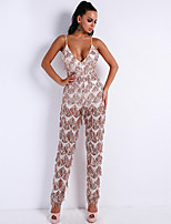 cheap -Jumpsuits Glittering Sexy Party Wear Prom Dress Spaghetti Strap Sleeveless Floor Length Spandex with Sequin Tassel 2020