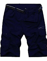 cheap -hiking shorts for men outdoor casual quick dry lightweight elasticated cargo pants for fishing golf walking #6017 navy-l 32