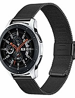 cheap -band for samsung galaxy watch 46mm / galaxy watch 3 45mm men, 22mm mesh woven stainless steel watchband quick release strap wristband for samsung gear s3 classic / frontier smartwatch